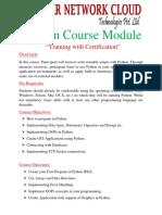 Python Star Course Content