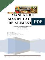 Manual de Manipulación Alimentos