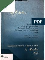 CASTILHO & CARRATORE - Considerações sobre a Nomenclatura Gramatical Brasileira e suas Relações com a Terminologia Latina