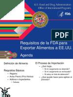 Requisitos de la FDA para exportar alimentos a EEUU