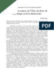 Critique de La Nation de lEtat Du Droit de La Politique Et de La Democratie