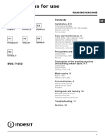 Manual Lavadora Indesit Bwa71252weu