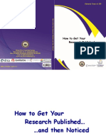 How to Get Your Research Published and Then Noticed
