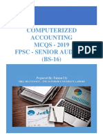 Computerized Accounting MCQ's