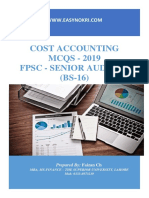 Cost Accounting MCQs - Senior Auditor BS-16