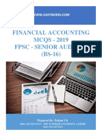Financial Accounting MCQs - Senior Auditor Bs-16