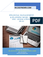 Financial Management & Planning MCQ's