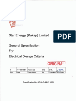 1. General Specification for Electrical Design Criteria (Sekl-g-99-E-1001)