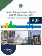 EPE, 2018 - Compilação de Correlações de Custo de Equipamentos
