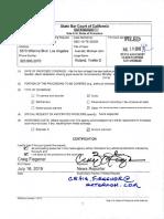 Cal Bar vs Avenatti - Order Denying Press Coverage