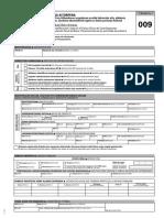 Modelo 009 DECLARACIÓN CENSAL de alta, modificación y baja en el Censo Único de Contribuyentes de la Diputación Foral de Álava. Personas físicas sin actividad económica.