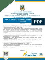 Fundatec 2017 Bm Rs Soldado Da Policia Militar Prova