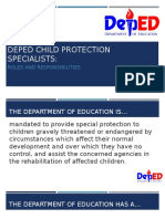 Module 1. Session 1. Roles and Responsibilities of DepEd Child Protection Specialists