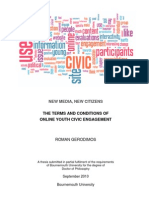 New Media, New Citizens Thesis 2009