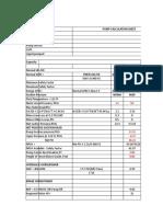 Pump Calculation Sheet