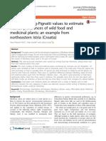 Using Ellenberg-Pignatti values to estimate habitat preferences of wild food and medicinal plants