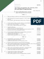06CS36-Unix and Shell Programming-Jan 2014