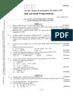 10CS44- Unix and Shell Programming-Dec 2012