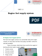 SI-Engine Fuel Supply System