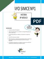 Ensayo1 Simce Historia 8 Basico 2