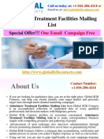 Alzheimers Treatment Facilities Mailing List