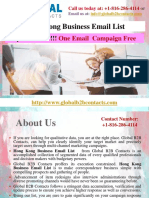 Hong Kong Business Email List