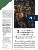 Map the interactions between Sustainable Development Goals