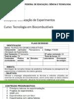 Planejamento e otimização de experimentos