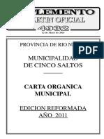 Boletín Oficial Reforma Carta Orgánica Municipalidad Cinco Saltos 2011