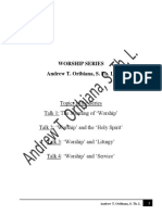 Worship Series - Talk 4 by Andrew T. Oribiana