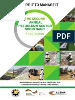 Second Annual Petroleum Scorecard 2017/2018