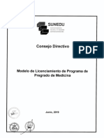 Res 097 2019 Sunedu CD Resuelve Aprobar Modelo Licenciamiento Programa Medicina Modelo