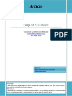 FAQs on SBO Rules