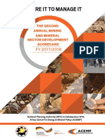 Second Annual Mining and Mineral Scorecard