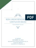Non linear bending of a cantilever beam