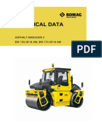 Bomag technical data
