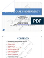 Critical Care in Emergency