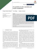 Order Flow Dynamics for Prediction of Order Cancelation and Detect Market Manipulation