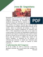El Congreso de Angostura