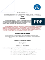 Pwd Constitution and by-laws