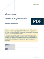 BBC Programme Strategic Assessment Template 2018