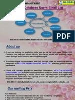 Netezza Database Users EmailList