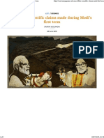 Strange Science of Modis India