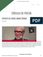 Círculo de Poesía _ Patente de corso_ Mark Strand