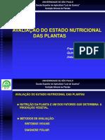 Aula - Avaliação Do Estado Nutricional de Plantas