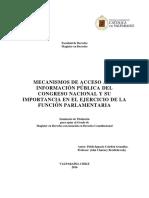 acceso a informacion en el congreso Pablo Ignacio Celedon Gonzalez