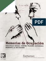 Memorias de Ocupación. Violencia Sexual Contra Mujeres Detenidas en La Dictadura Militar