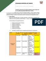 Diagnóstico de Los Tachos Públicos de La Municipalidad Distrital de Taricáokfinal