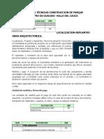 Especificaciones Parque Guacarí.docx