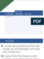 Acid Base Salts